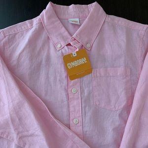 NWT Gymboree Boys Sz 7/8 Linen Button Down Shirt